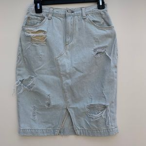 Rag & Bone distressed denim skirt size 26 in waist